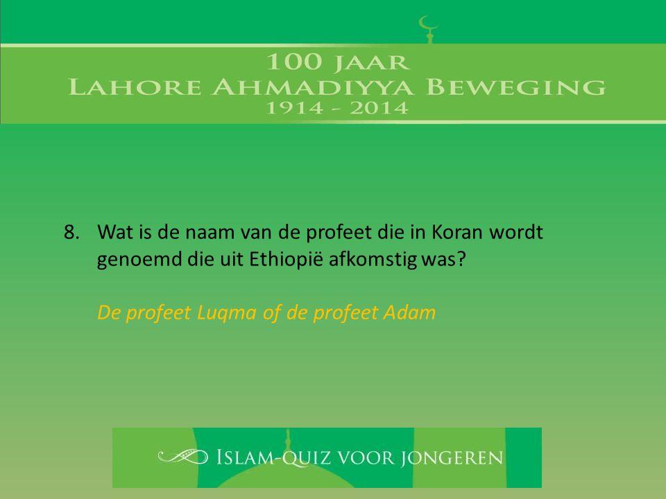 De profeet Luqma of de profeet Adam