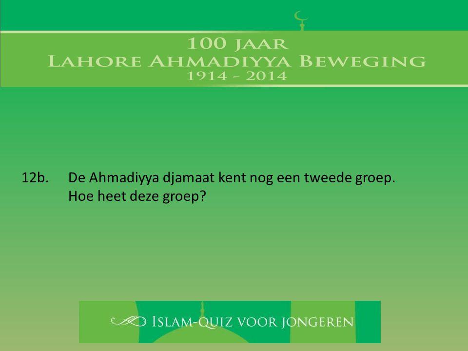12b. De Ahmadiyya djamaat kent nog een tweede groep.