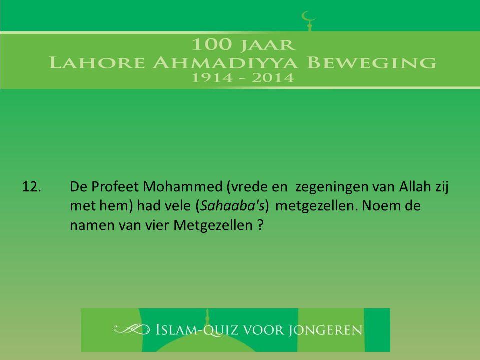 12. De Profeet Mohammed (vrede en zegeningen van Allah zij