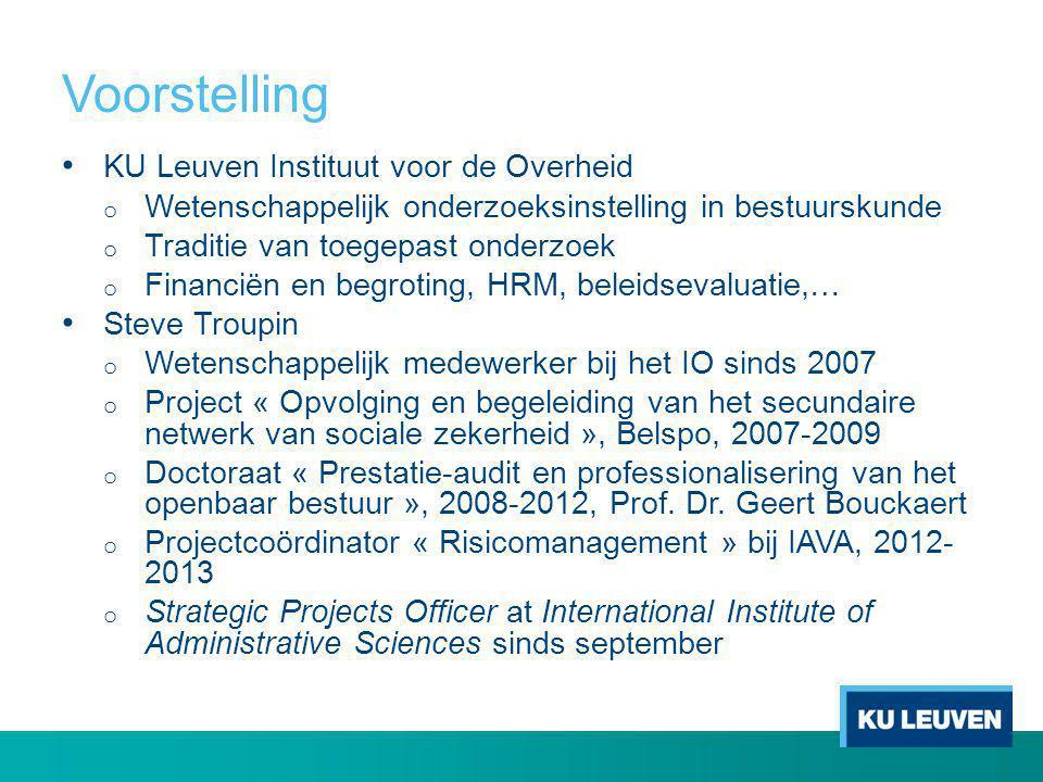 Voorstelling KU Leuven Instituut voor de Overheid