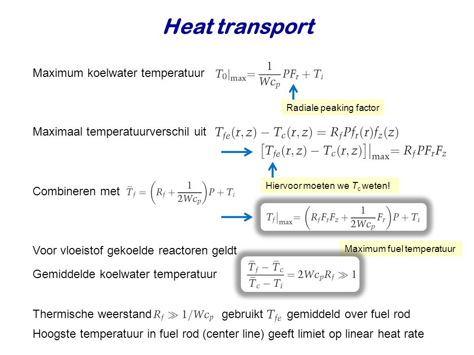 Heat transport Maximum koelwater temperatuur