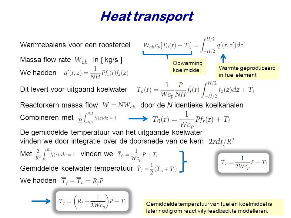Heat transport Warmtebalans voor een roostercel