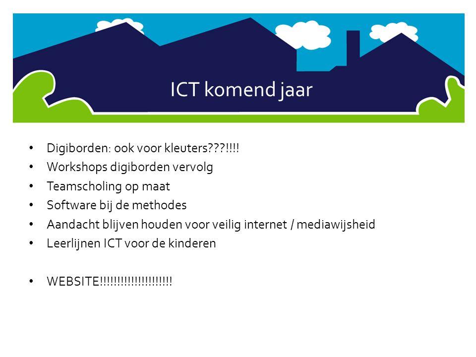 ICT komend jaar Digiborden: ook voor kleuters !!!!