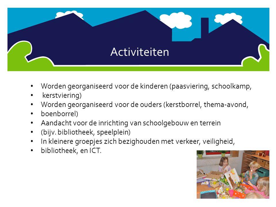 Activiteiten Worden georganiseerd voor de kinderen (paasviering, schoolkamp, kerstviering)