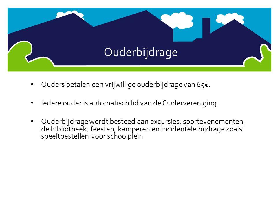 Ouderbijdrage Ouders betalen een vrijwillige ouderbijdrage van 65€.