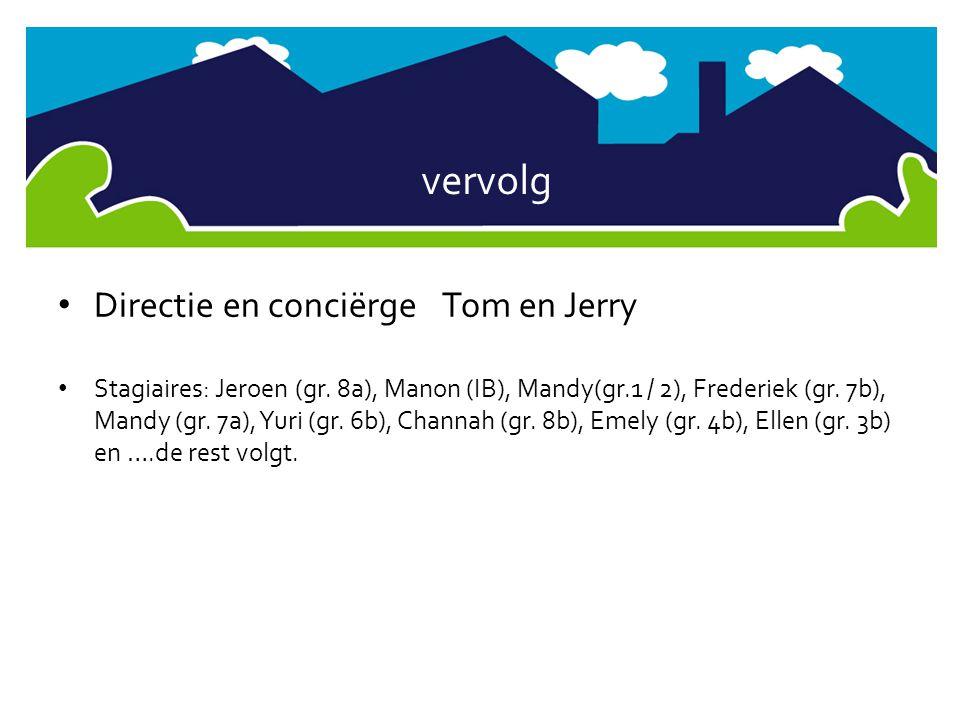 vervolg Directie en conciërge Tom en Jerry