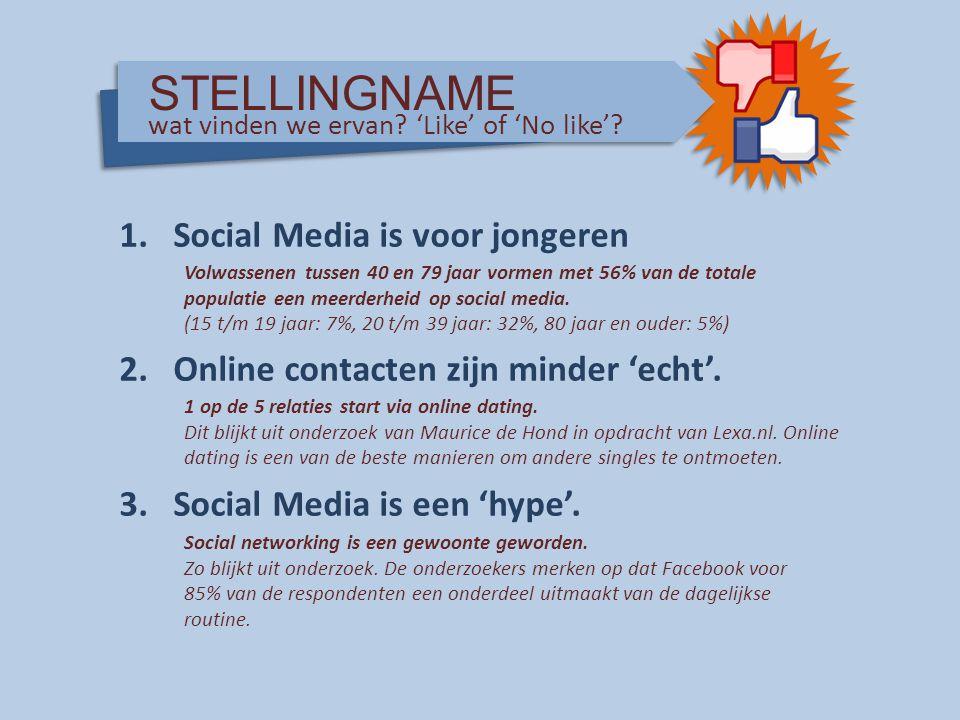 STELLINGNAME Social Media is voor jongeren