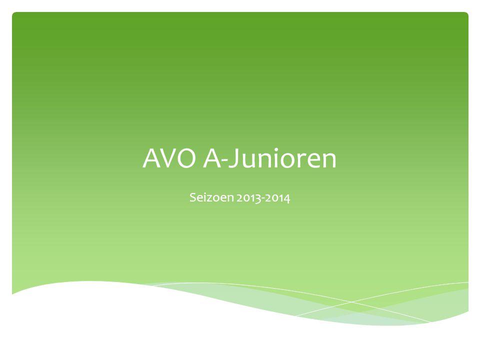 AVO A-Junioren Seizoen 2013-2014