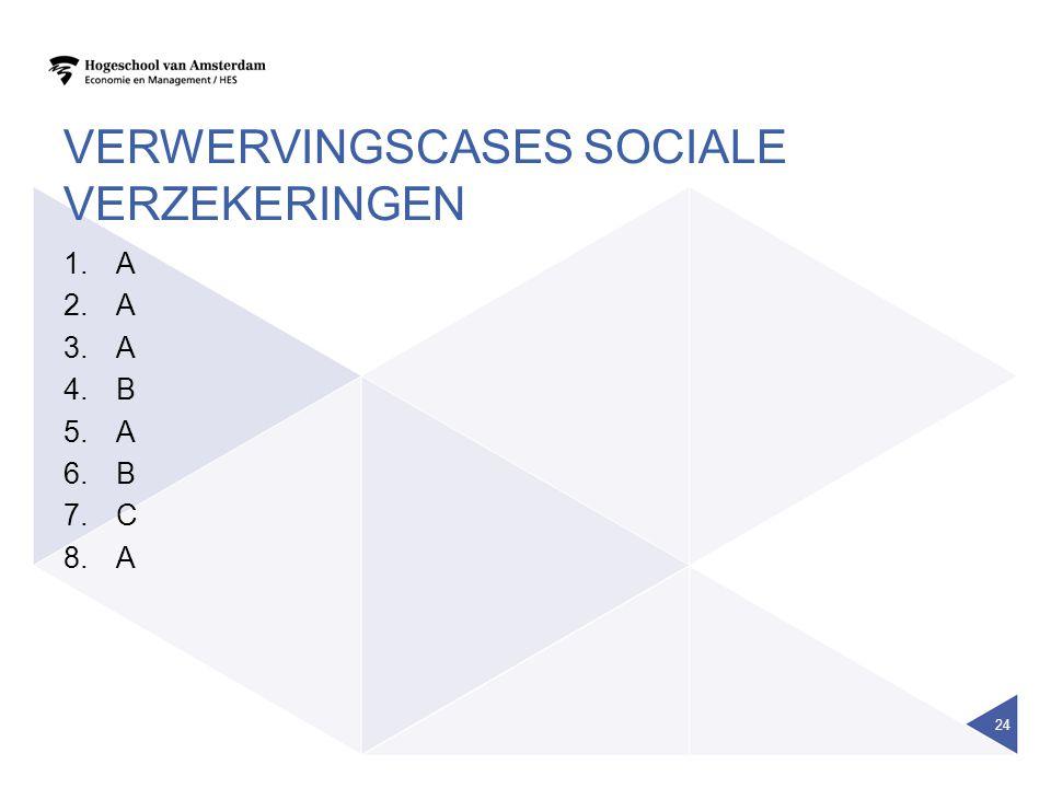 Verwervingscases sociale verzekeringen