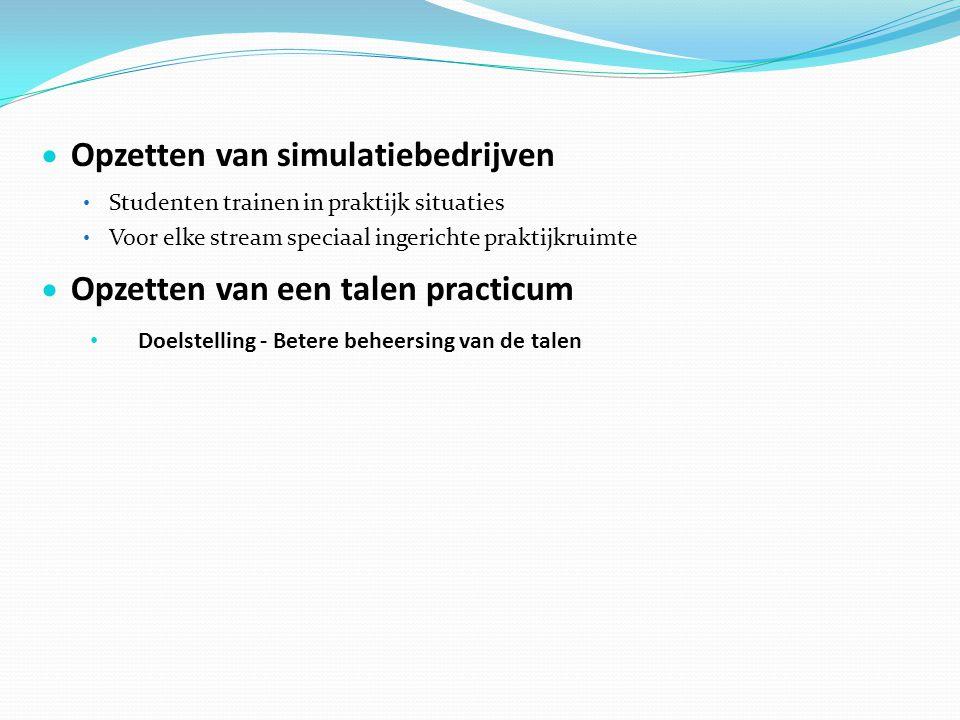 Opzetten van simulatiebedrijven
