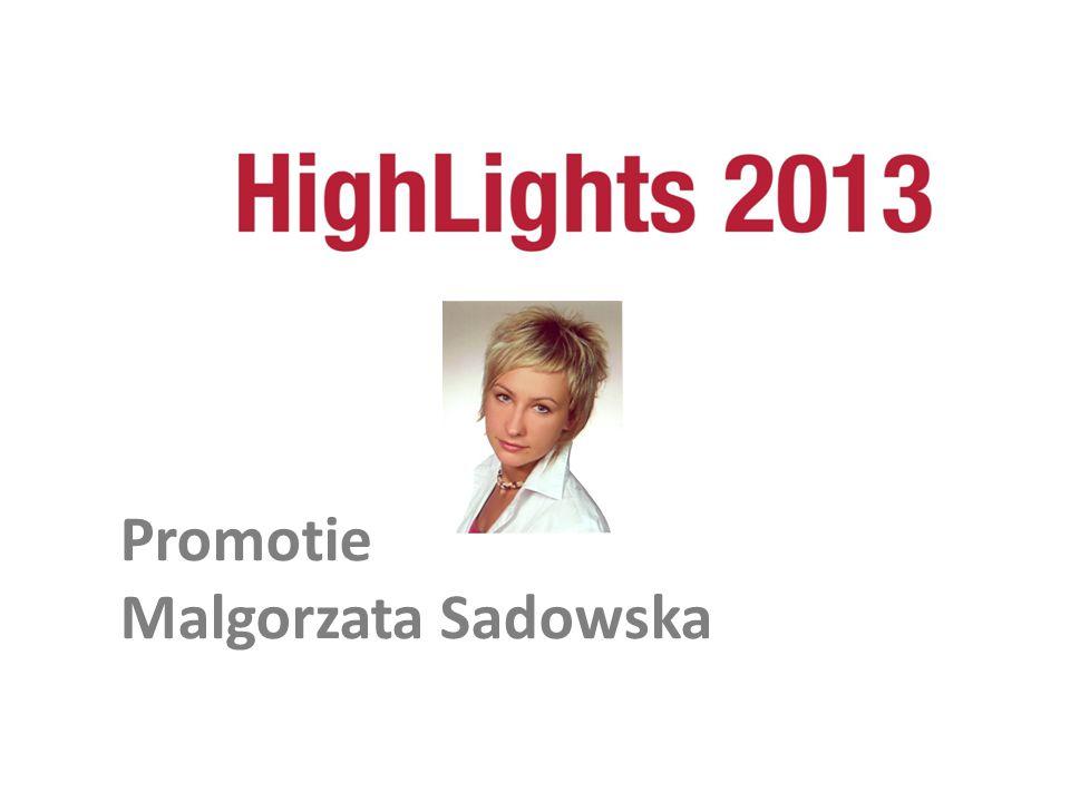 Promotie Malgorzata Sadowska Promotie Malgorzata Sadowska