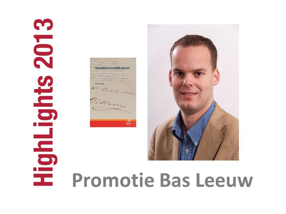 Promotie Bas Leeuw Promotie Bas Leeuw