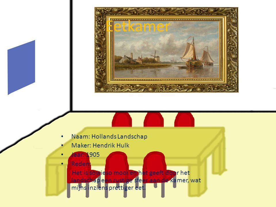 Eetkamer Naam: Hollands Landschap Maker: Hendrik Hulk Jaar: 1905