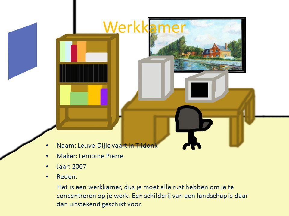 Werkkamer Naam: Leuve-Dijle vaart in Tildonk Maker: Lemoine Pierre
