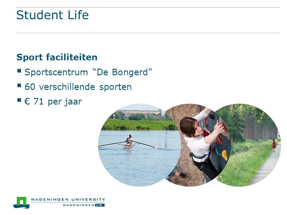 Student Life Sport faciliteiten Sportscentrum De Bongerd
