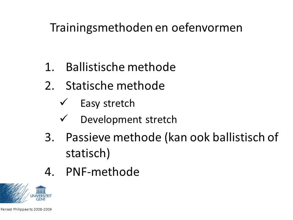 Trainingsmethoden en oefenvormen