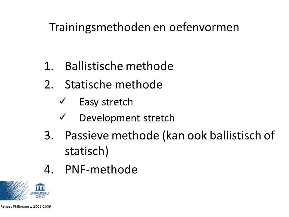 Trainingsmethoden en oefenvormen
