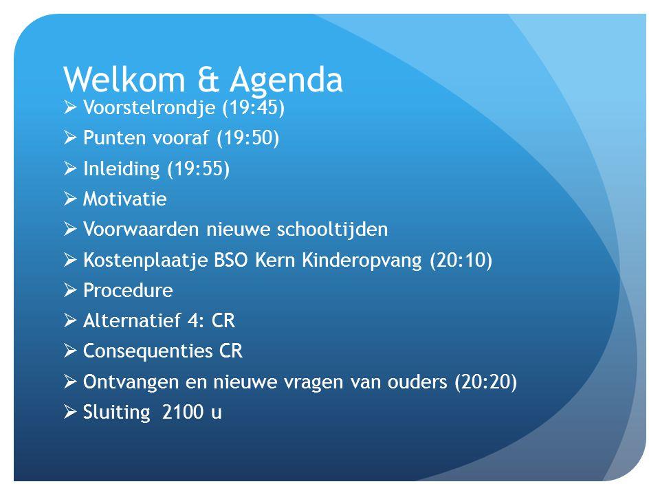 Welkom & Agenda Voorstelrondje (19:45) Punten vooraf (19:50)