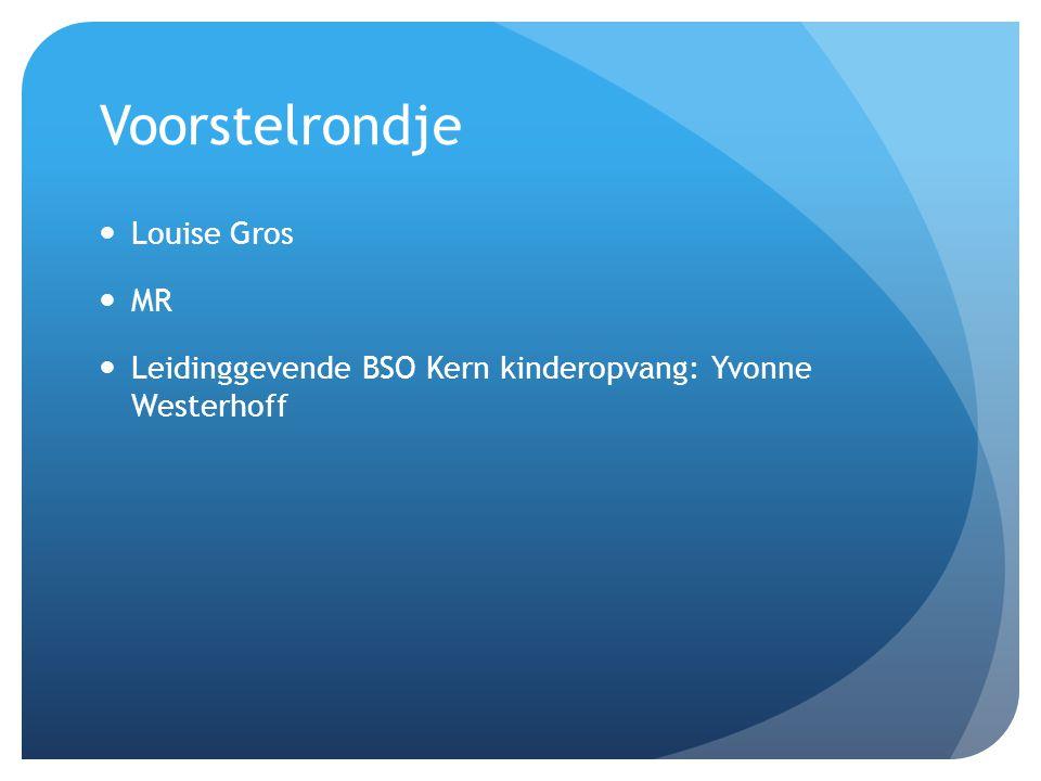 Voorstelrondje Louise Gros MR