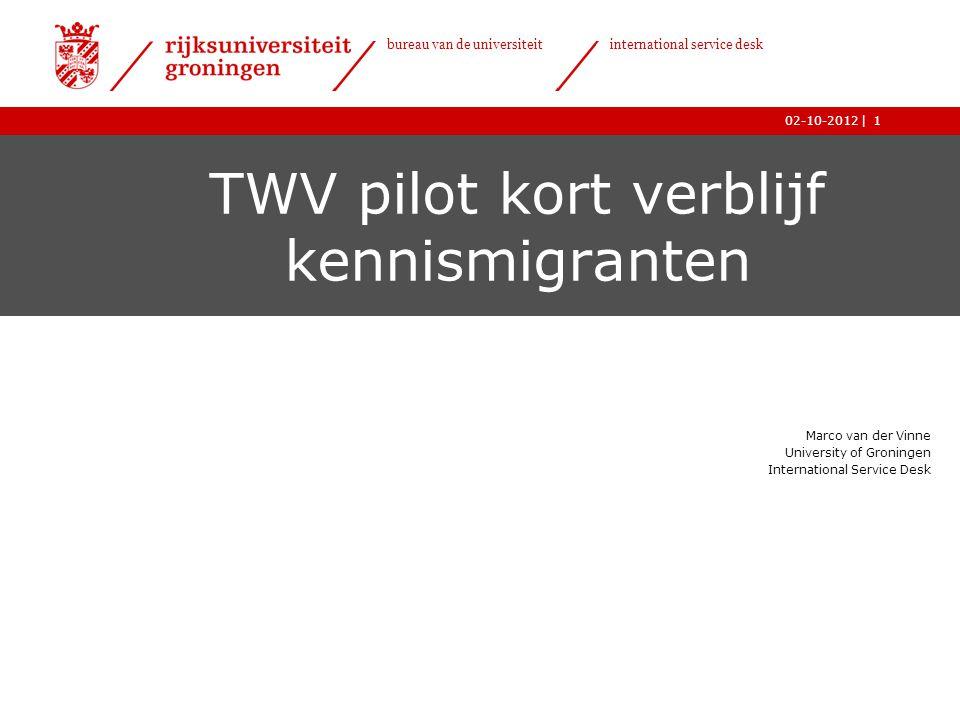 TWV pilot kort verblijf kennismigranten