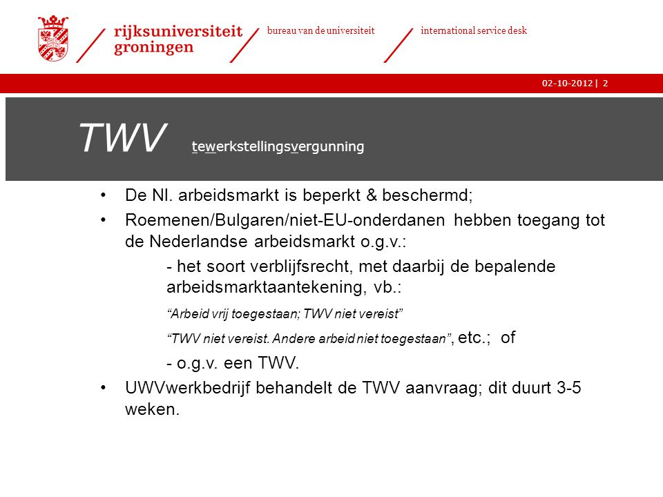 TWV tewerkstellingsvergunning