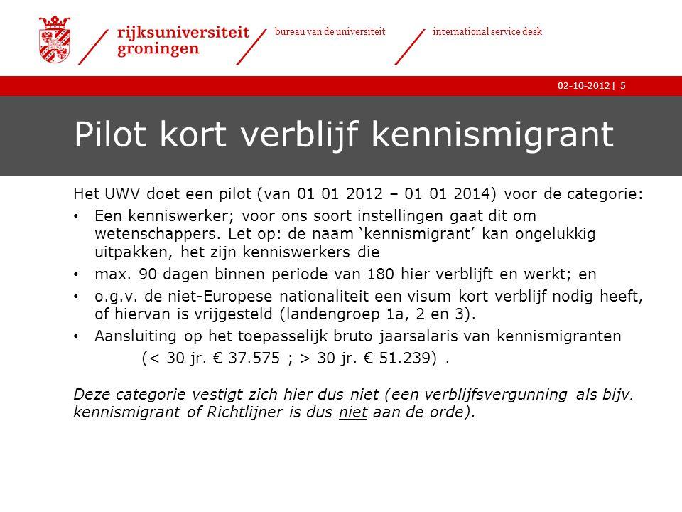 Pilot kort verblijf kennismigrant