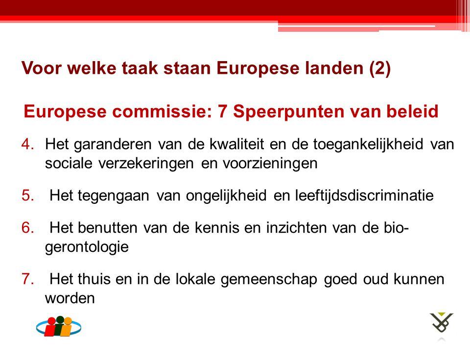 Voor welke taak staan Europese landen (2)