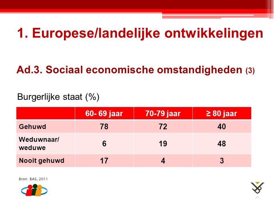 Ad.3. Sociaal economische omstandigheden (3)
