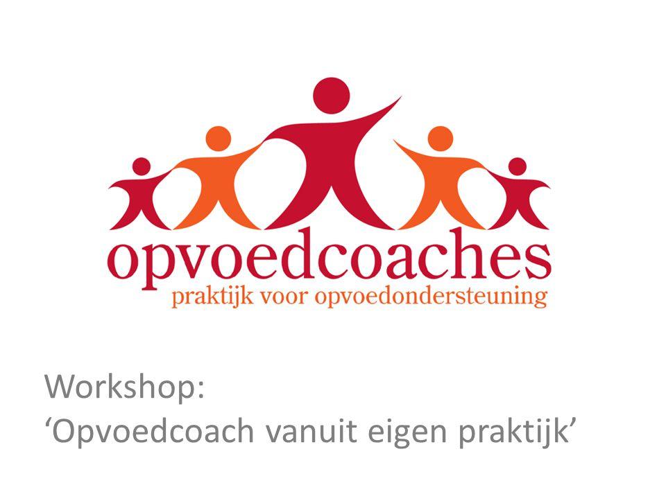 Workshop: 'Opvoedcoach vanuit eigen praktijk'