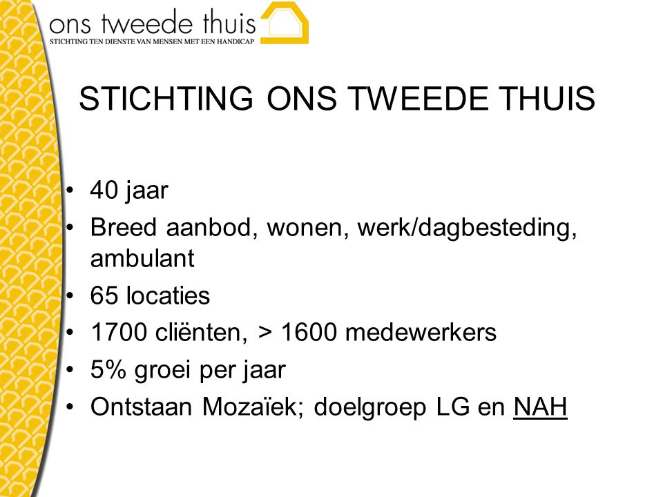 STICHTING ONS TWEEDE THUIS