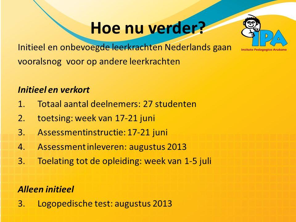 Hoe nu verder Initieel en onbevoegde leerkrachten Nederlands gaan