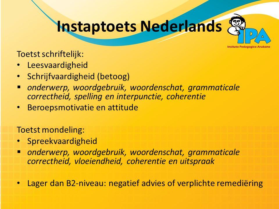 Instaptoets Nederlands