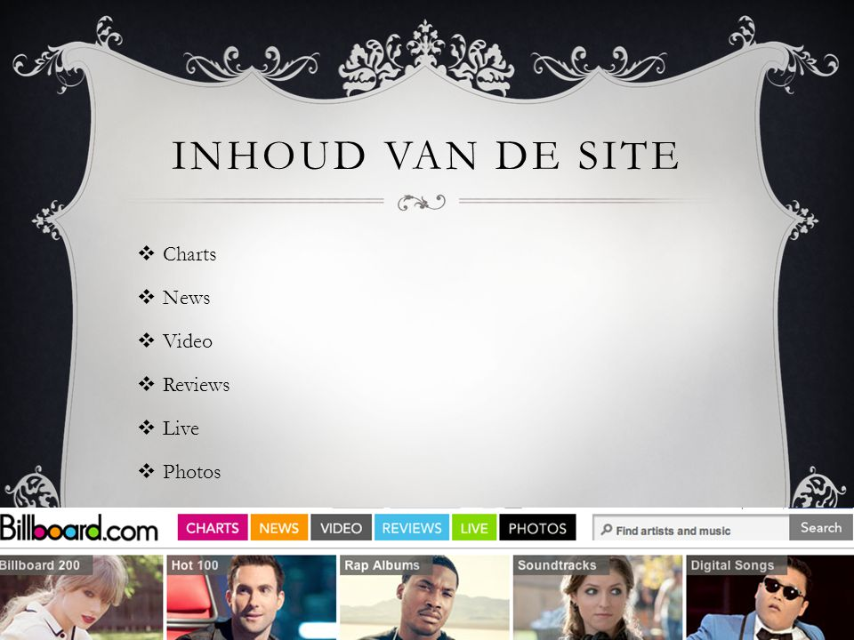 Inhoud van de site Charts News Video Reviews Live Photos