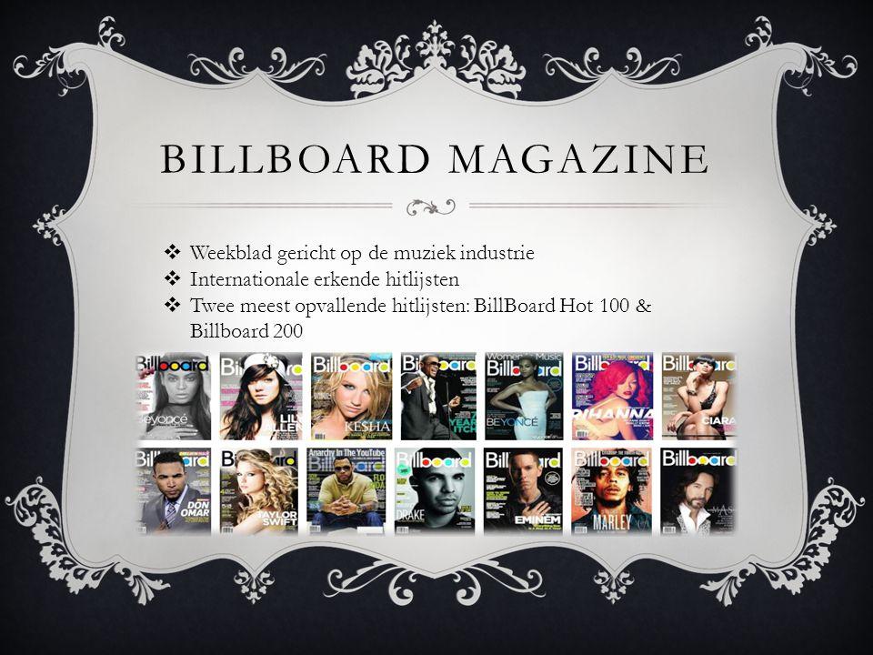 Billboard magazine Weekblad gericht op de muziek industrie