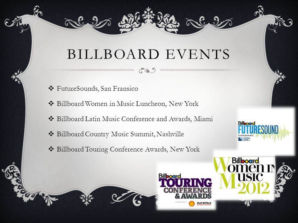 Billboard events FutureSounds, San Fransico