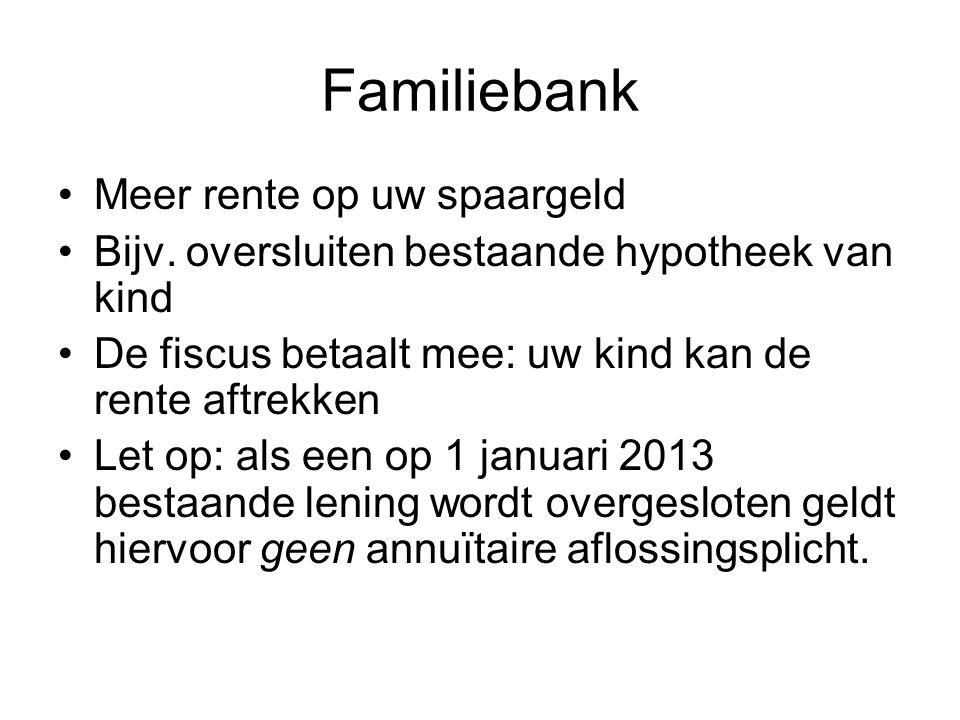 Familiebank Meer rente op uw spaargeld