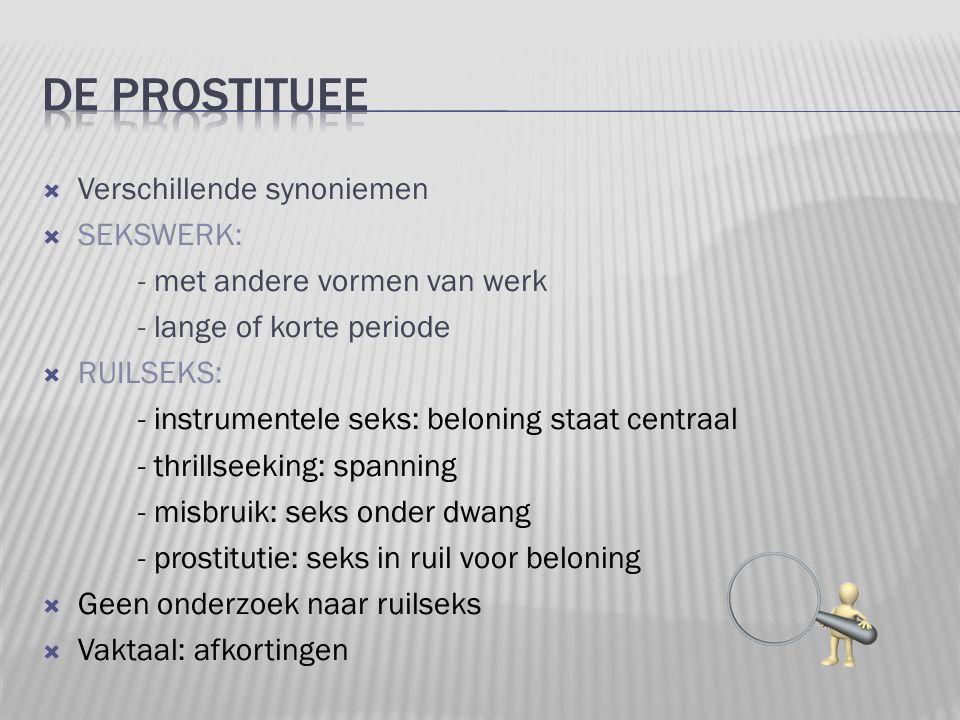 De prostituee Verschillende synoniemen SEKSWERK: