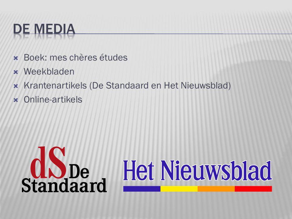 De media Boek: mes chères études Weekbladen