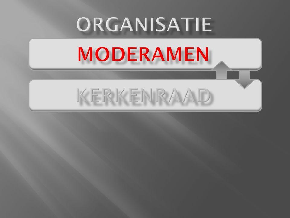 ORGANISATIE moderamen Kerkenraad