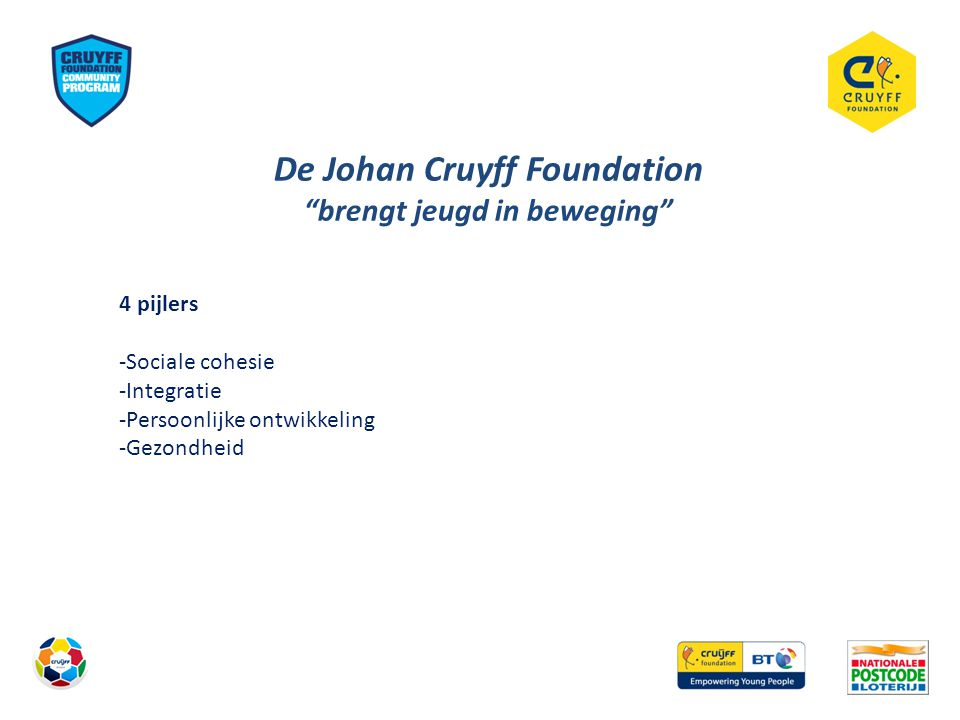 De Johan Cruyff Foundation brengt jeugd in beweging
