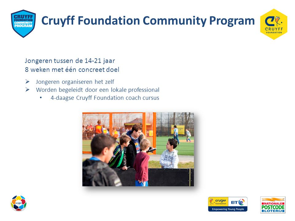 Cruyff Foundation Community Program