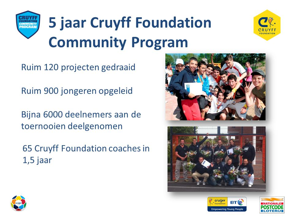 5 jaar Cruyff Foundation Community Program