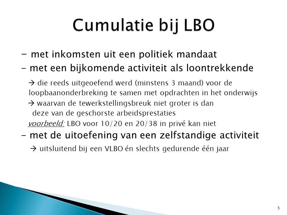 Cumulatie bij LBO - met inkomsten uit een politiek mandaat