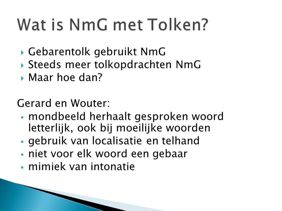 Wat is NmG met Tolken Gebarentolk gebruikt NmG