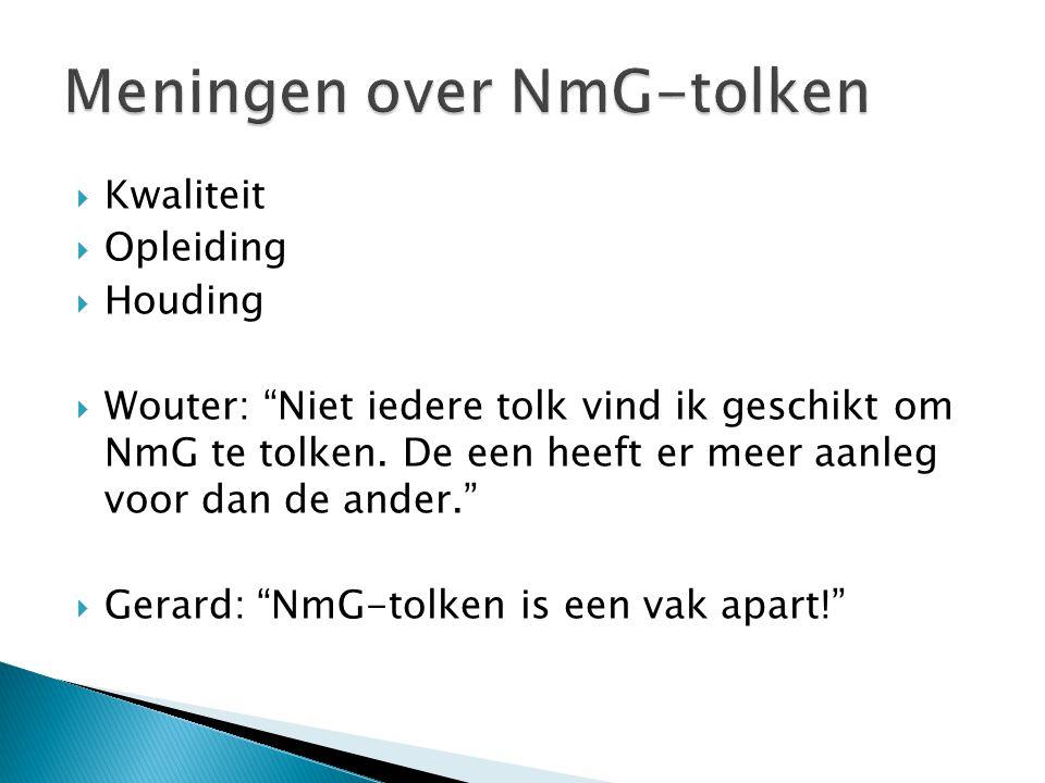 Meningen over NmG-tolken