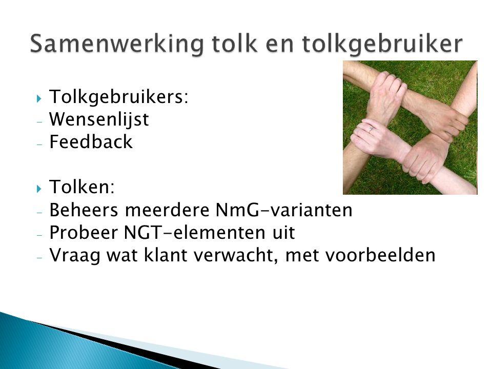 Samenwerking tolk en tolkgebruiker