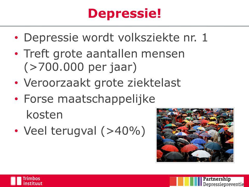 Depressie! Depressie wordt volksziekte nr. 1