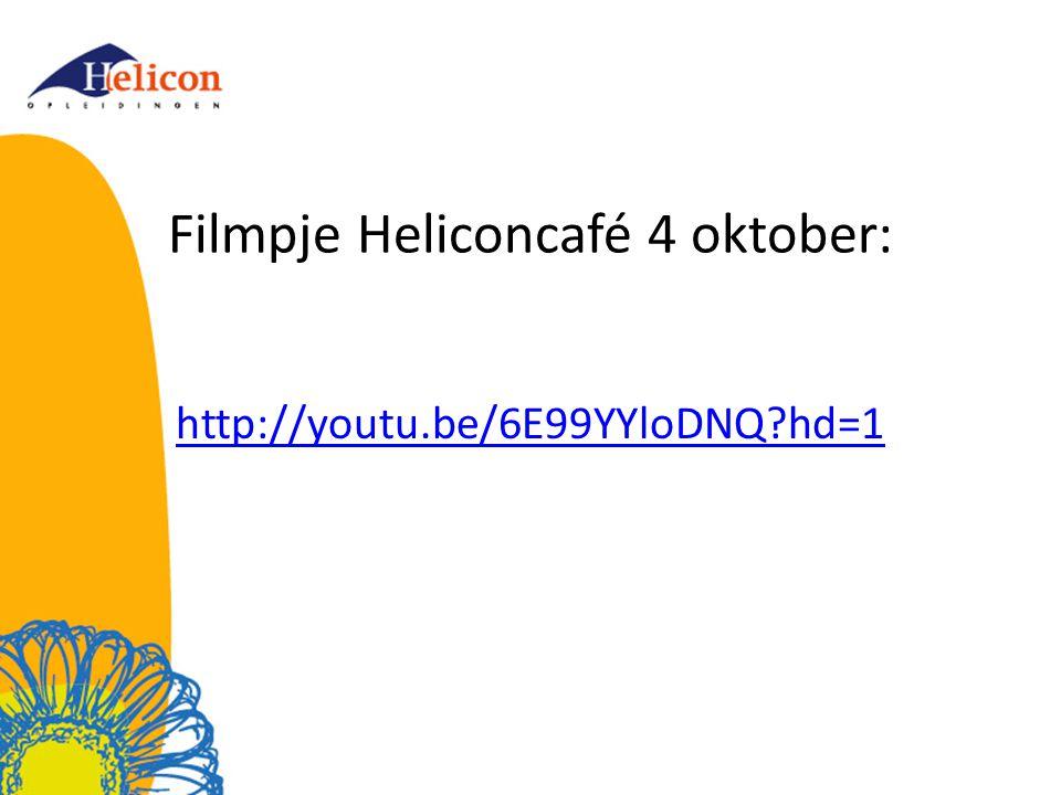 Filmpje Heliconcafé 4 oktober: