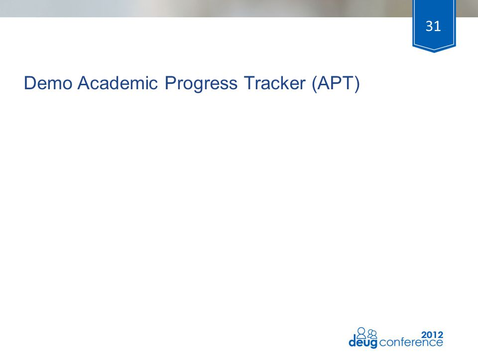 Demo Academic Progress Tracker (APT)