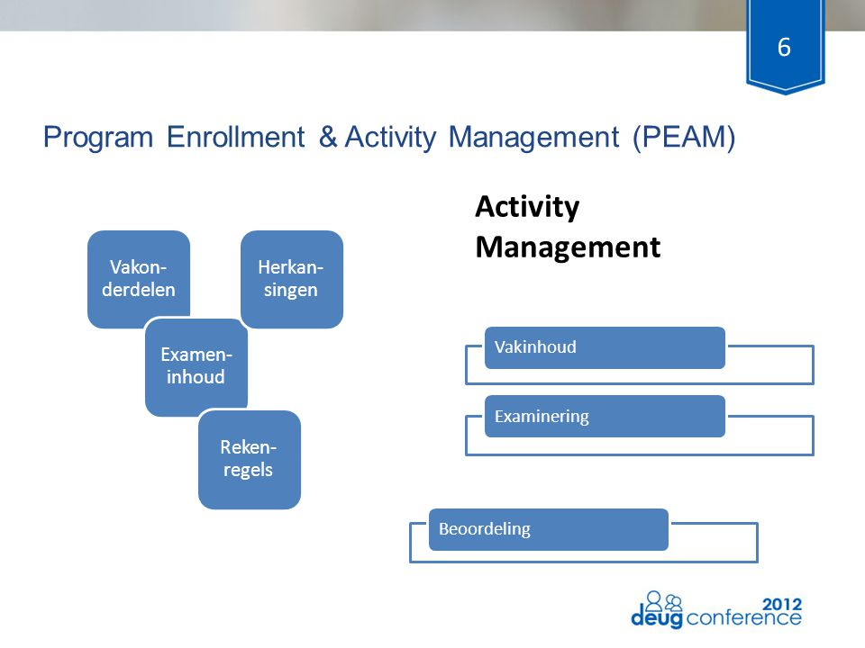 Program Enrollment & Activity Management (PEAM)